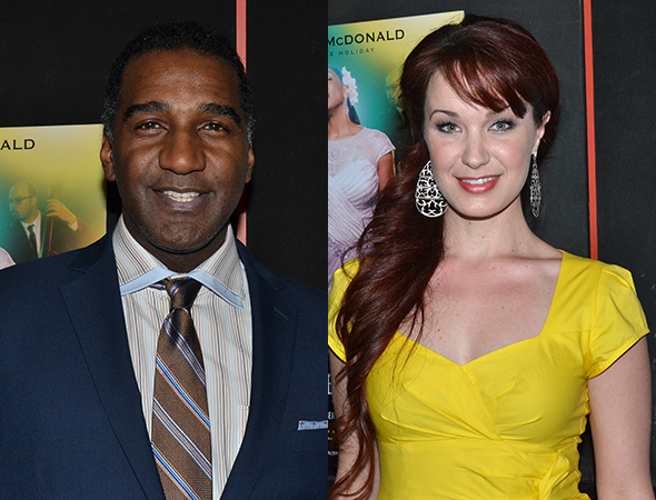 <p>Norm Lewis and Sierra Boggess will next be seen onstage together in <em>The Phantom of the Opera</em>.</p><br />(© David Gordon)