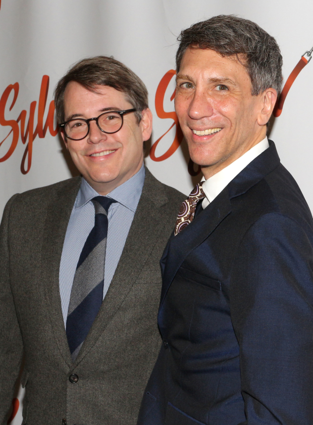 <p>Not to be outdone, Matthew Broderick also shares a photo with Sella.</p><br />(© David Gordon)