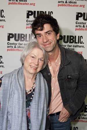 <p>Noted acting coach Kristin Linklater joins her son, actor Hamish Linklater, for opening night.</p><br />(© David Neff)