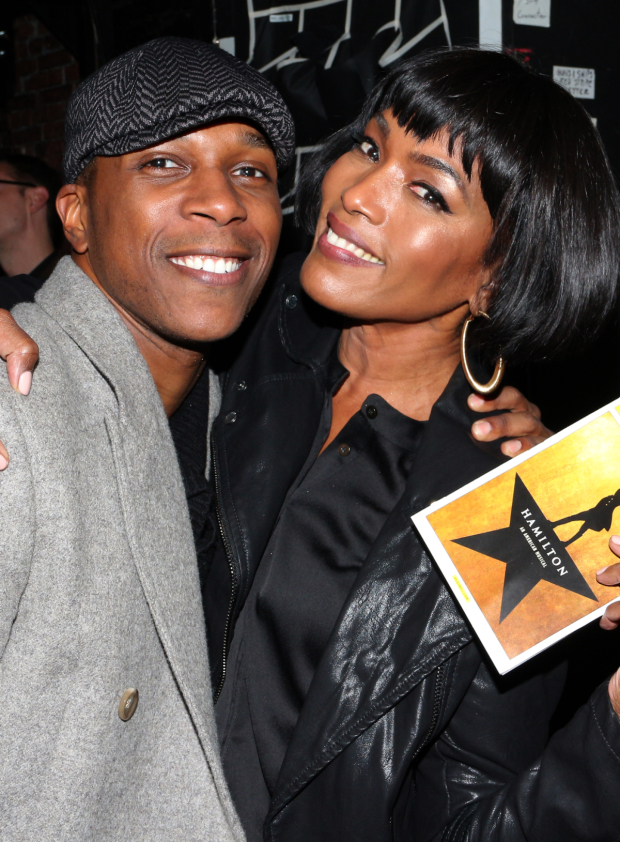 <p>November 13, 2015: Angela Bassett visits with Odom after the show.</p><br />(© David Gordon)
