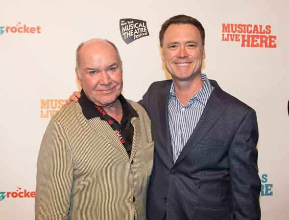 <p>NYMF opening night host Jack O&#39&#x3B;Brien with NYMF Executive Producer Dan Markley.</p><br />(© Seth Walters)