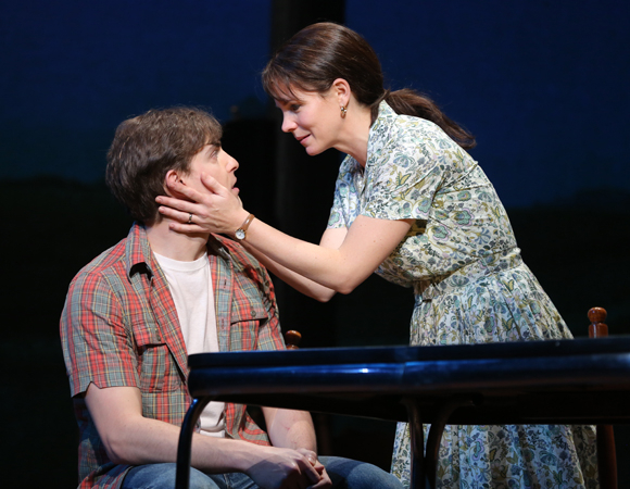 <p>O&#39&#x3B;Hara with Derek Klena, who plays her onstage teenage son, Michael. </p><br />(© Joan Marcus)