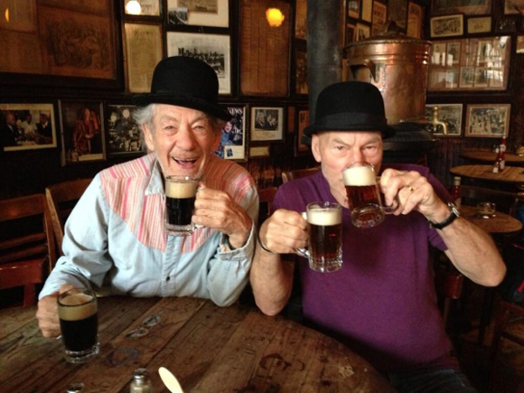 <p>October 16 – And after rehearsal, what&#39&#x3B;s better than a drink or four?</p><br />(Photo via @IanMcKellen)