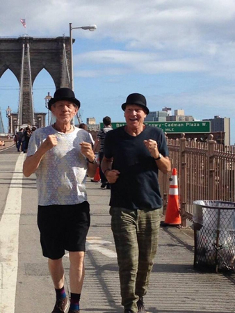 <p>October 9 – Nothing prepares the Sirs for a long day of rehearsal like a morning jog.</p><br />(Photo via @SirPatStew)