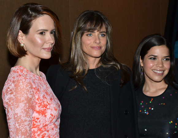 <p>Off-Broadway veterans Sarah Paulson, Amanda Peet, and America Ferrera attended the event.</p><br />(© David Gordon)