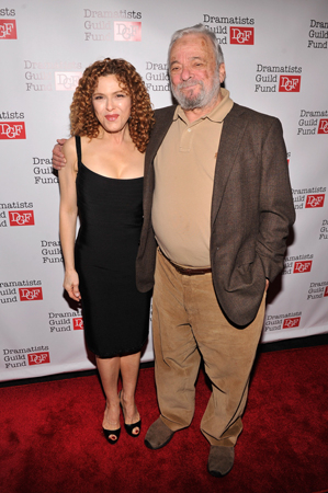 <p>Old friends Stephen Sondheim and Bernadette Peters.</p><br />(© Stephen Lovekin/Getty Images)