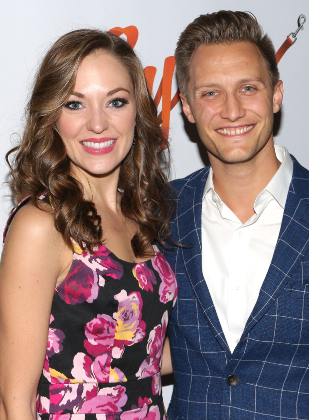 <p>On her night off from Paper Mill Playhouse&#39&#x3B;s production of <em>The Bandstand</em>, Laura Osnes and her husband, Nathan Johnson, take in the opening of <em>Sylvia</em>.</p><br />(© David Gordon)