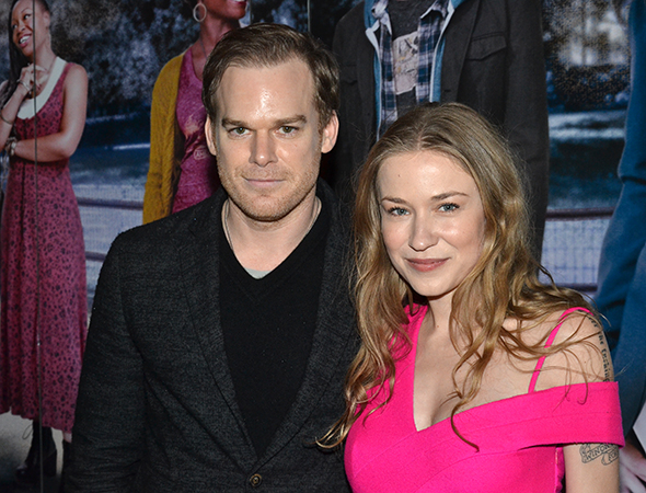 <p>On his night off from Broadway&#39&#x3B;s <em>The Realistic Joneses</em>, Michael C. Hall spends an evening at the theater with his girlfriend, Morgan Macgregor.</p><br />(© David Gordon)