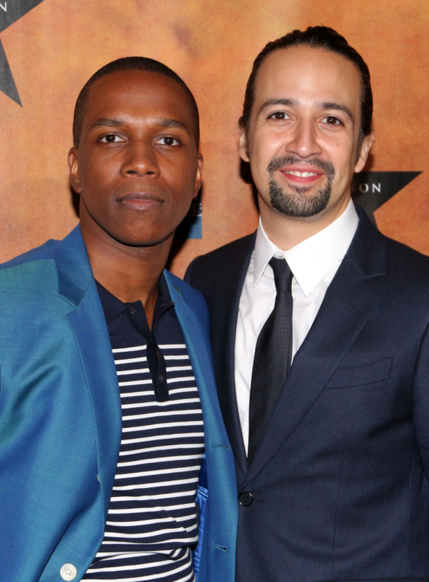 <p>Onstage, Leslie Odom Jr. and Lin-Manuel Miranda are adversaries as Aaron Burr and Alexander Hamilton, but offstage, they&#39&#x3B;re the best of pals.</p><br />(© David Gordon)