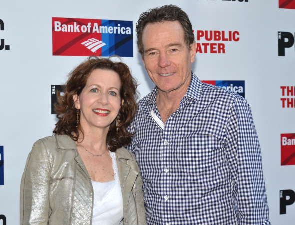 <p>On their night off from Broadway&#39&#x3B;s <em>All the Way</em>, Betsy Aidem and Bryan Cranston attend Shakespeare in the Park together.</p><br />(© David Gordon)