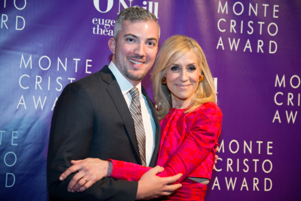 <p>O'Neill executive director Preston Whiteway gets a hug from two-time Tony winner Judith Light.</p><br />(© Allison Stock)