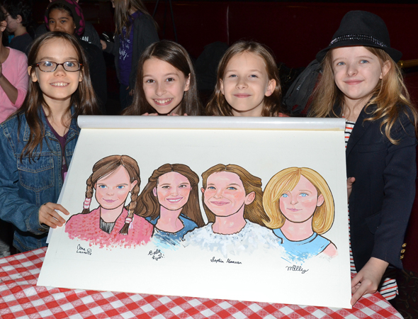 <p>Oona, Bailey, Sophia, and Milly show off their newest honor.</p><br />(© David Gordon)