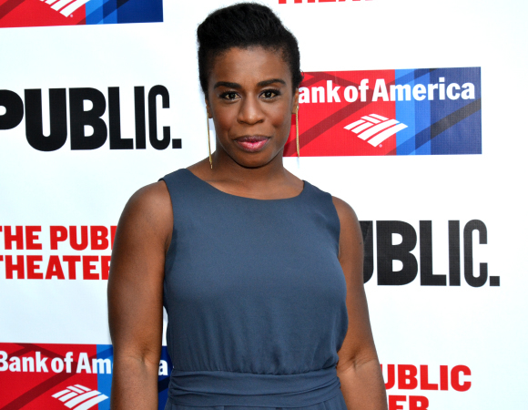 <p><em>Orange Is the New Black</em> cast member Uzo Aduba arrives for the gala.</p><br />(©  David Gordon)