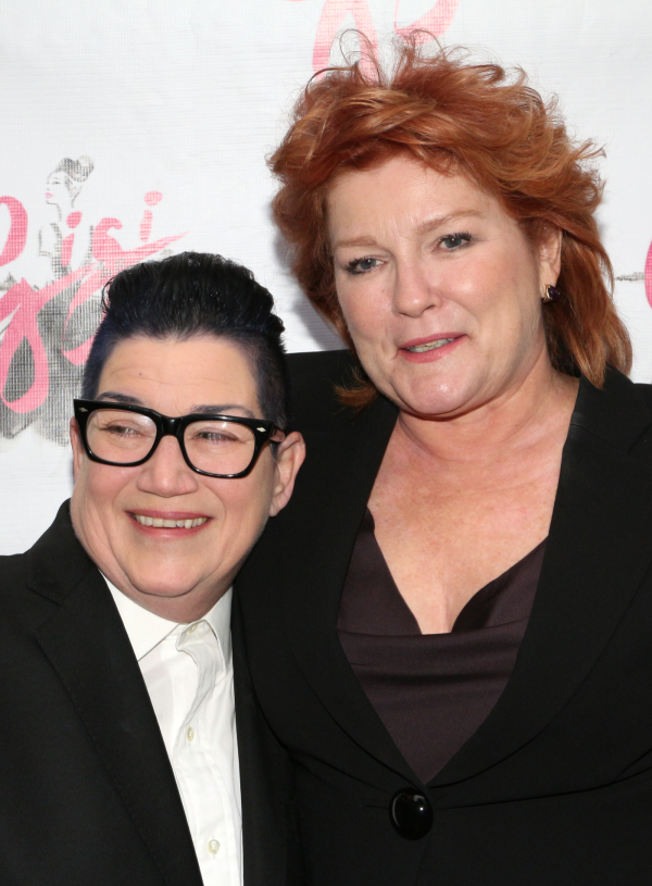 <p><em>Orange Is the New Black</em> favorites Lea DeLaria and Kate Mulgrew pal around on the red carpet.</p><br />(© David Gordon)