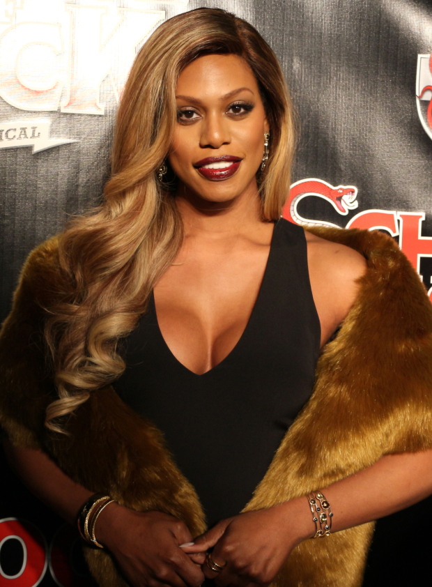 <p><em>Orange Is the New Black</em> icon Laverne Cox works the red carpet before the show.</p><br />(© David Gordon)