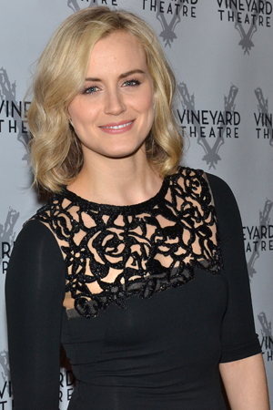 <p><em>Orange Is the New Black</em> star Taylor Schilling arrives at the Edison Ballroom for the Vineyard Theatre&#39&#x3B;s annual gala.</p><br />(© David Gordon)