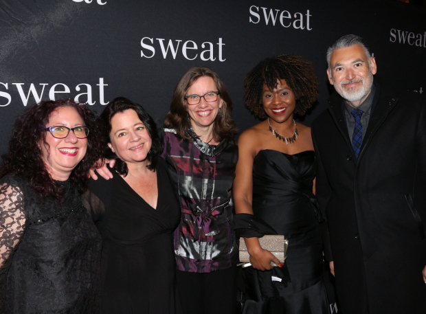 <p>Oregon Shakespeare Festival representatives proudly celebrate a show they helped shepherd to the stage.</p><br />(© David Gordon)