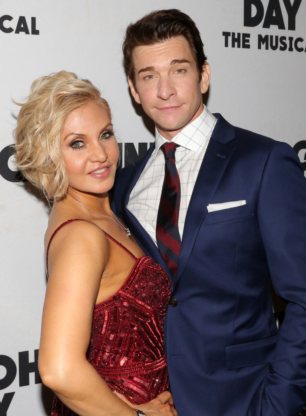 <p>Orfeh and Andy Karl celebrate the opening night.</p>