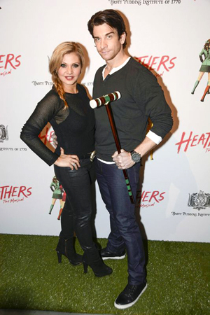 <p>Orfeh and Andy Karl play a short game of croquet before the show starts.</p><br />(© Nessie Nankivell)