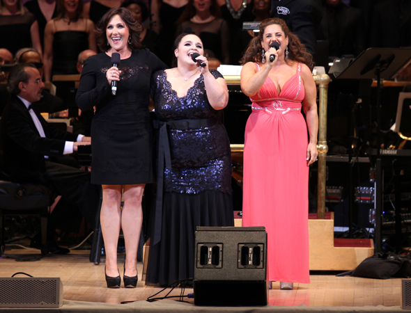 <p>Original Tracy Turnblads Ricki Lake, Nikki Blonsky, and Marissa Jaret Winokur take the stage to perform &quot&#x3B;Good Morning, Baltimore&quot&#x3B; from <em>Hairspray</em>.</p><br />(© David Gordon)