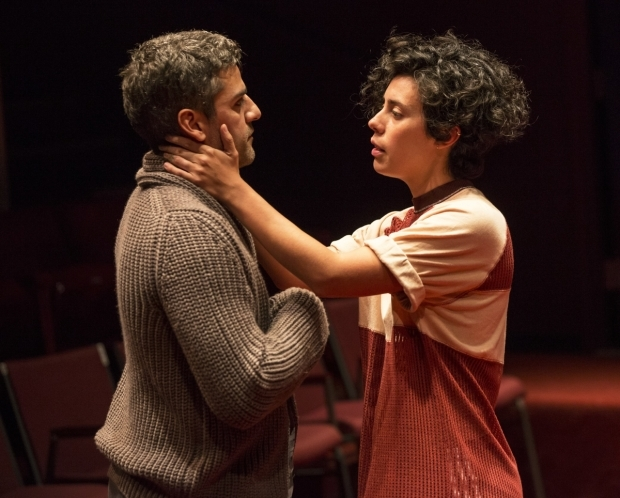 <p>Oscar Isaac and Roberta Colindrez in a scene from <em>Hamlet</em>.</p><br />(© Carol Rosegg)
