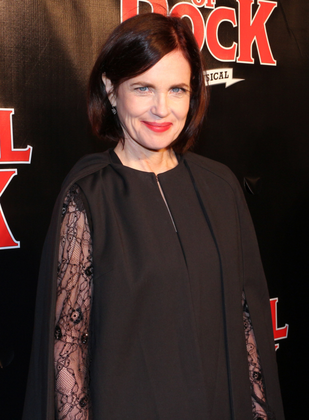 <p>Oscar nominee Elizabeth McGovern is part of the <em>Downton Abbey</em> contingent on hand to cheer on their show&#39&#x3B;s creator, <em>School of Rock</em> book writer Julian Fellowes.</p><br />(© David Gordon)