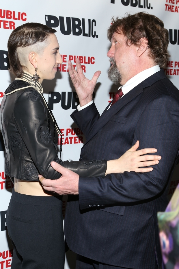 <p>Jo Lampert and Oskar Eustis celebrated opening night.</p><br />(© Tricia Baron)