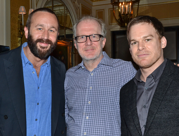 <p>Outstanding Actor in a Play nominee Chris O&#39&#x3B;Dowd (<em>Of Mice and Men</em>) with Special Award recipients Tracy Letts and Michael C. Hall (<em>The Realistic Joneses</em>).</p><br />(© David Gordon)