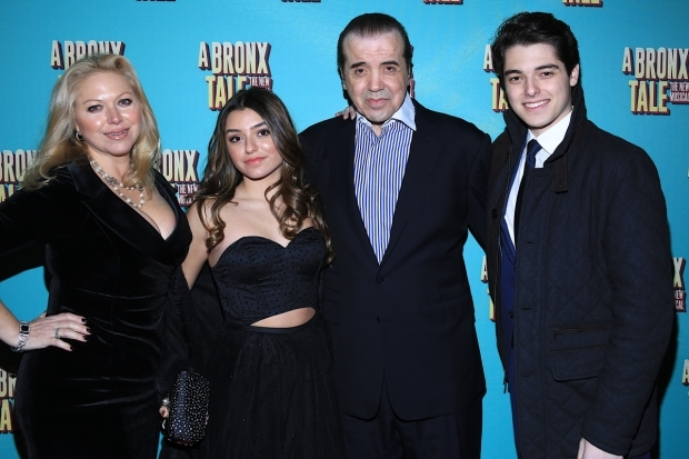 <p>Palminteri&#39&#x3B;s family joins him on opening night. </p><br />(© Tricia Baron)