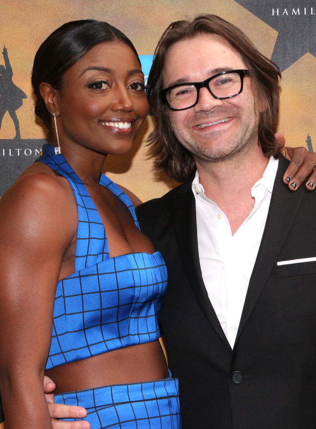 <p><em>Pippin</em> Tony winner Patina Miller and husband David Mars get ready for <em>Hamilton</em>.</p><br />(© David Gordon)