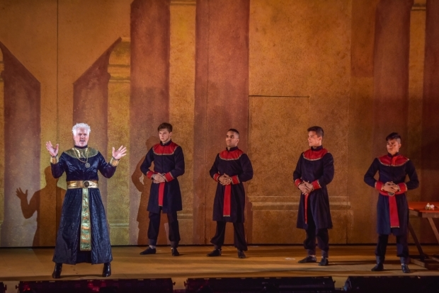 <p>Patrick Cassidy sings as Zoser.</p><br />(courtesy of The Muny)