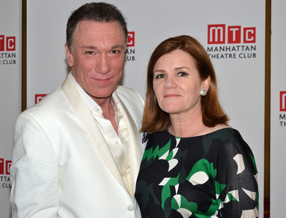 <p>Patrick Page and Mare Winningham lead the company of <em>Casa Valentina</em> as George/Valentina and his wife, Rita.</p><br />(© David Gordon)