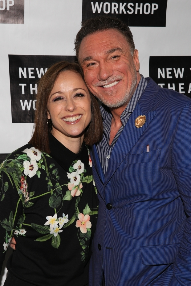 <p>Patrick Page is joined by his wife, Paige Davis, on the red carpet.</p><br />(© Tricia Baron)