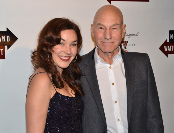 <p>Patrick Stewart, who plays Hirst in <em>No Man&#39&#x3B;s Land</em> and Vladimir in <em>Waiting for Godot</em>, shares a photo with his lovely wife, jazz singer Sunny Ozell.</p><br />(© David Gordon)