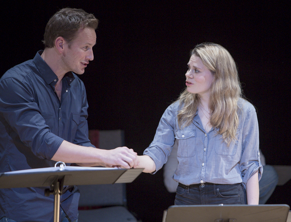 <p>Patrick Wilson and Celia Keenan-Bolger in a scene from the reading of <em>Tumacho</em>.</p><br />(© Daniel Terna)