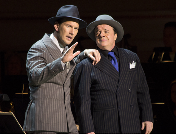 <p>Patrick Wilson and Nathan Lane took on the roles of Sky Masterson and Nathan Detroit.</p><br />(© David Gordon)