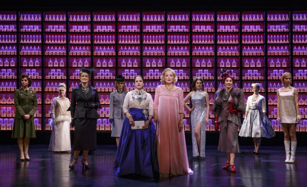 <p>Patti LuPone, Christine Ebersole, and the company of <em>War Paint</em>.</p><br />(© Joan Marcus)