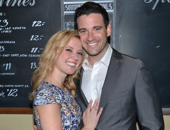 <p>Patti Murin shares a photo with her boyfriend, Colin Donnell.</p><br />(© David Gordon)