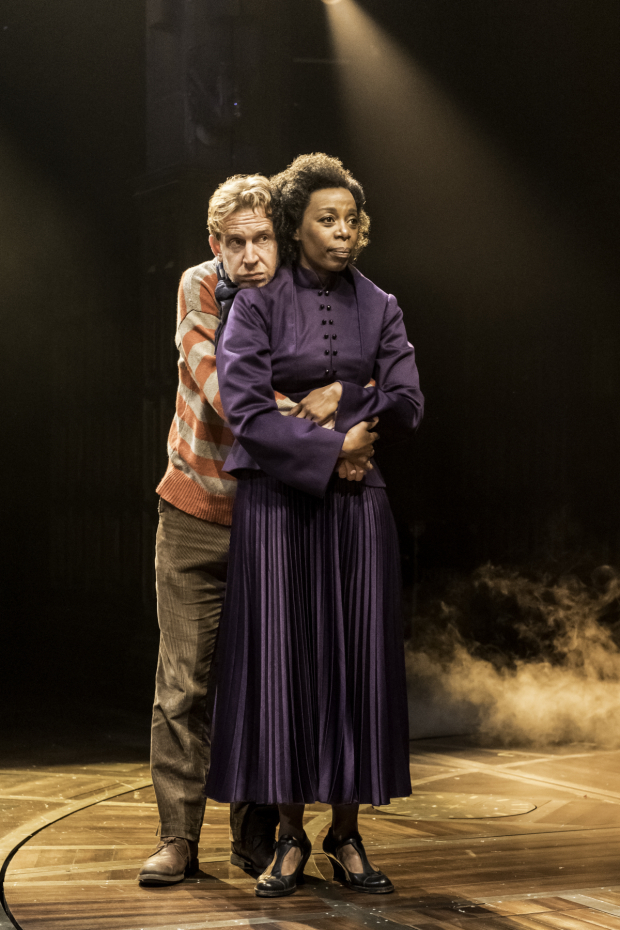 <p>Paul Thornley and Noma Dumezweni are Ron and Hermione in the new production.</p><br />(© Manuel Harlan)