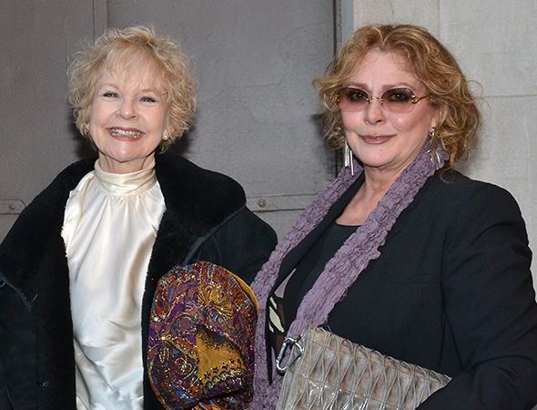 <p>Penny Fuller and Elizabeth Ashley pal around on opening night.</p><br />(© David Gordon)