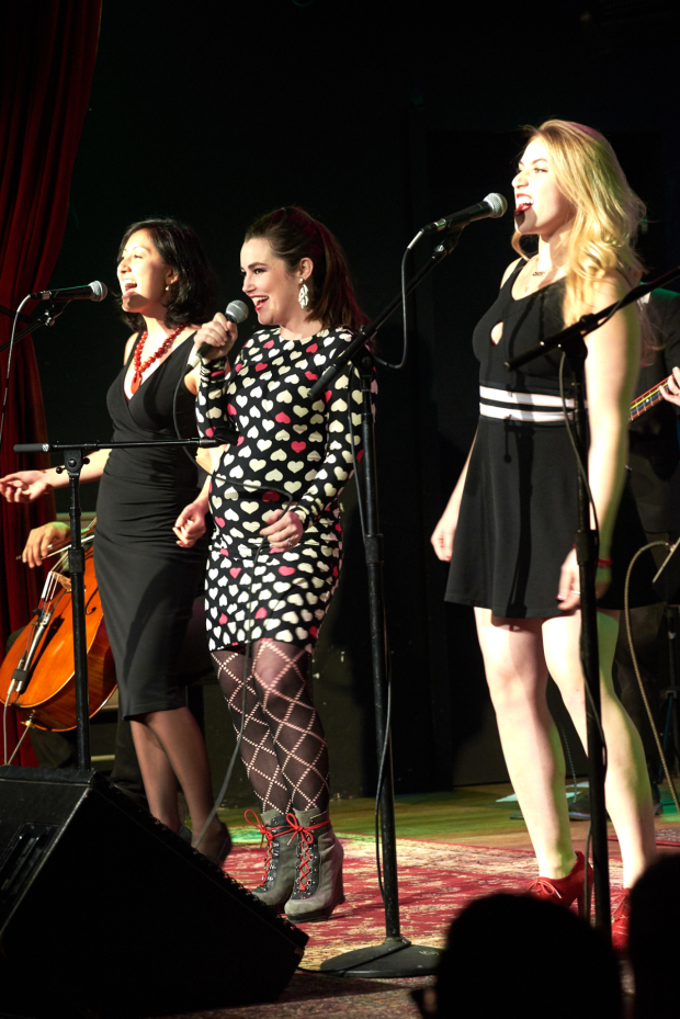 <p>Performers included Lauren Worsham (center) and her band Sky-Pony.</p><br />(© Richard Mitchell)