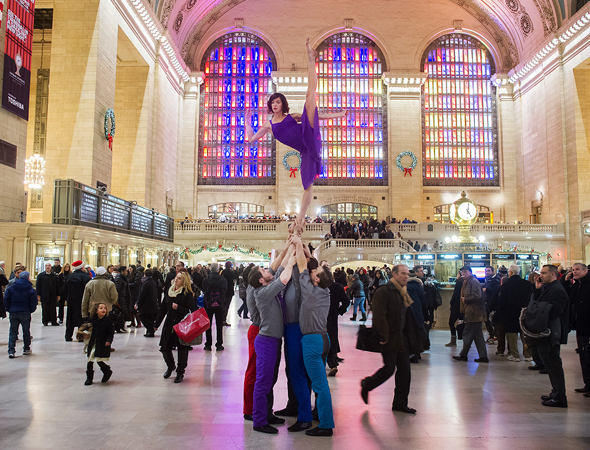 <p>Performing at Grand Central Station.</p><br />(© Jordan Matter)