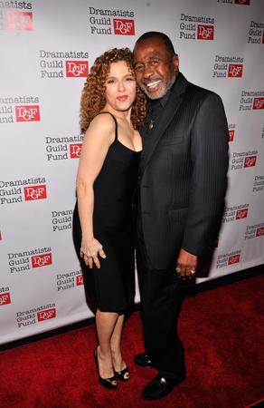 <p>Peters poses with another Broadway favorite, Ben Vereen.</p><br />(© Stephen Lovekin/Getty Images)