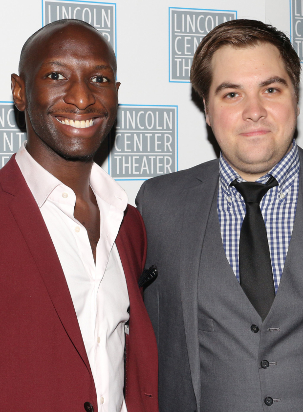 <p>Phillip James Brannon and Nate Miller take on their opening night.</p><br />(© David Gordon)