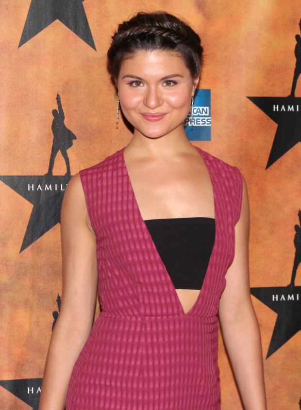<p>Phillipa Soo makes her Broadway debut as Eliza Hamilton.</p><br />(© David Gordon)
