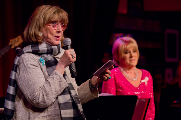 <p>Phyllis Newman thanks the audience for helping raise over $120,000.</p><br />(© Seth Walters)
