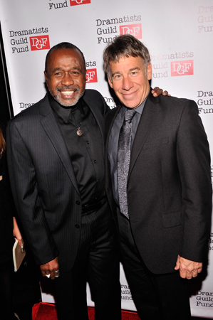 <p><em>Pippin</em>&#39&#x3B;s original leading player Ben Vereen shares a moment with the show&#39&#x3B;s composer, Stephen Schwartz.</p><br />(© Stephen Lovekin/Getty Images)