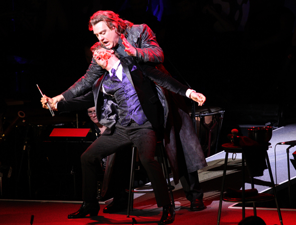 <p>Pirelli meets his maker at the hands of Sweeney Todd.</p><br />(© David Gordon)