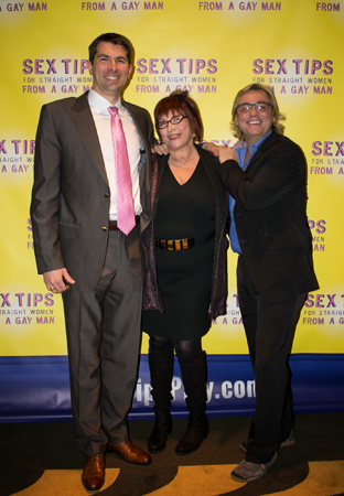 <p>Playwright and producer Matt Murphy, <em>Sex Tips</em> book coauthor Maggie Berman, and producer Shawn Nightingale.</p><br />(© Stephanie Olsen)