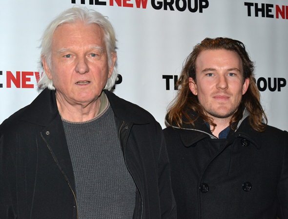 <p>Playwright David Rabe was joined by his son Michael, also a playwright.</p><br />(© David Gordon)